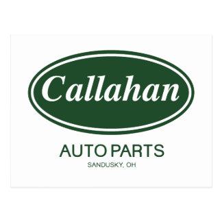 Piezas de automóvil de Callahan Tarjeta Postal