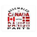 Piezas de Canadá del danés Postales