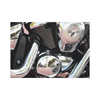 Piezas de la moto impresiones en lona estiradas