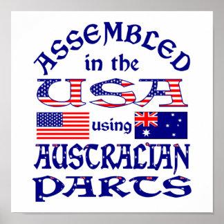 Piezas del australiano (w) póster