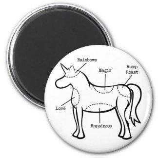 Piezas del unicornio imán redondo 5 cm