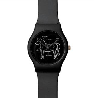 Piezas del unicornio relojes de pulsera