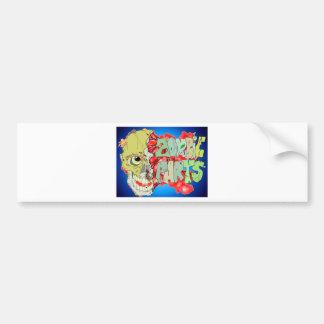 Piezas del zombi etiqueta de parachoque