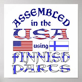 Piezas finlandesas póster