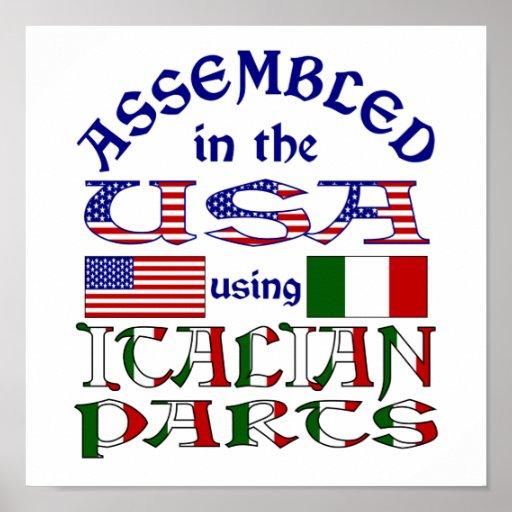 Piezas italianas póster