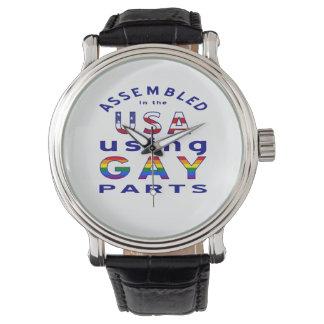 Piezas montadas azul del gay de los E.E.U.U. Relojes