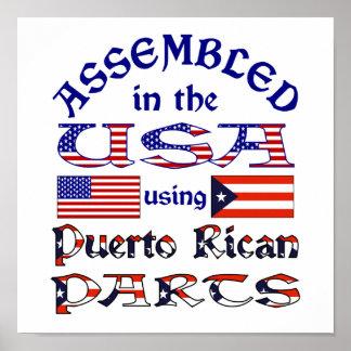 Piezas puertorriqueñas póster