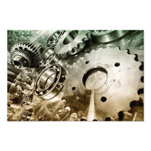 piezas, titanio y acero de la ingeniería aeroespac impresiones fotográficas