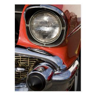 Piezas y linterna clásicas del cromo del coche postal