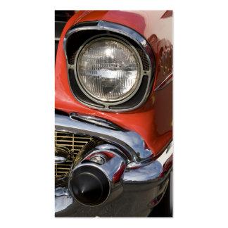 Piezas y linterna clásicas del cromo del coche tarjetas de visita