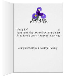 PIF Wtrclr Purple Iris Donation Holiday Card