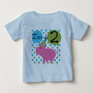 2Nd Birthday Farm Animals Personalized Newborn Infant Cute Tee Shirt