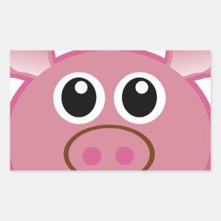 pig-30431 rectangular sticker
