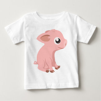 pig-576570 HUMBLE HAPPY PINK PIG PIGLET PIGGY CART Baby T-Shirt