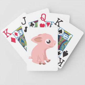 pig-576570 HUMBLE HAPPY PINK PIG PIGLET PIGGY CART Bicycle Playing Cards