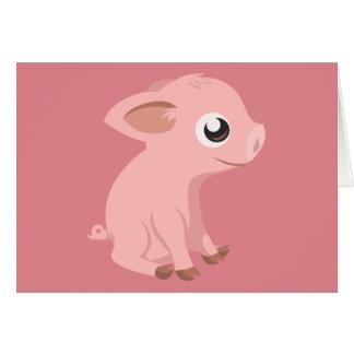 pig-576570 HUMBLE HAPPY PINK PIG PIGLET PIGGY CART Card