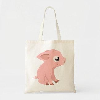 pig-576570 HUMBLE HAPPY PINK PIG PIGLET PIGGY CART Tote Bag