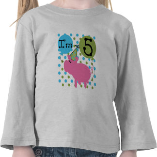 Pig 5th Birthday Tshirts and Gifts