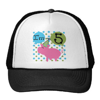 Pig 5th Birthday Tshirts and Gifts Trucker Hat