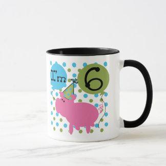 Pig 6th Birthday Mug