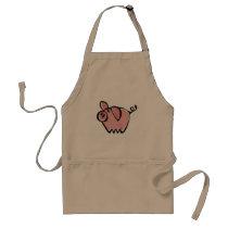 Pig Adult Apron