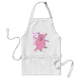 PIG ALL IS GOOD 1.PNG ADULT APRON