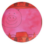 Pig and Apples Plate