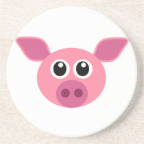 Pig and design items sandstone coaster