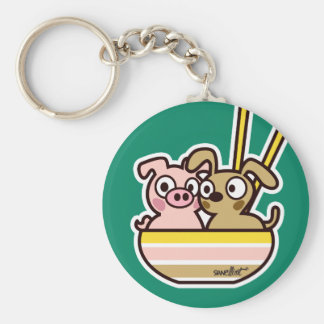 Pig and Dog Keychain