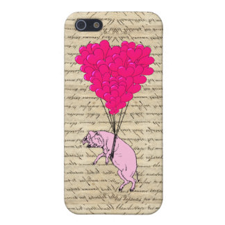 Pig and heart balloons iPhone SE/5/5s cover