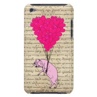 Pig and heart balloons iPod touch Case-Mate case