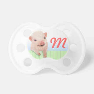 Pig and Monogram BooginHead Pacifier