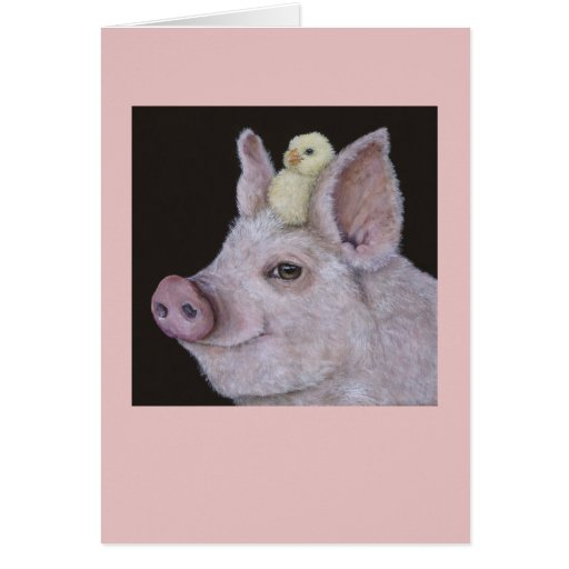 Pig and Peep card