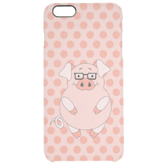 Pig And Polkadots Clear iPhone 6 Plus Case