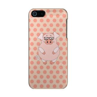 Pig And Polkadots Metallic iPhone SE/5/5s Case
