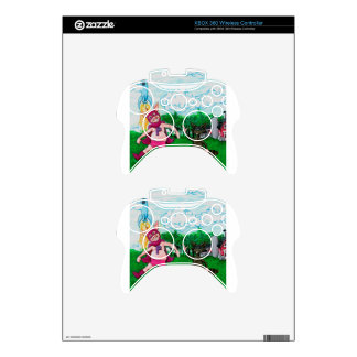 Pig and Raccoon and a Rocket Xbox 360 Controller Decal