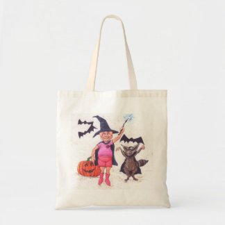 Pig and Raccoon Dressed for Halloween Tote Bag