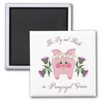 Pig and Thistle  Magnet