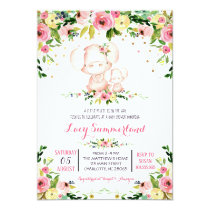 Pig baby shower invitation, piglet invitation