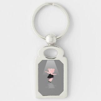 Pig Ballet Dancer Keychain