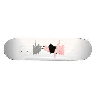 Pig Ballet Dancer Skateboard Deck