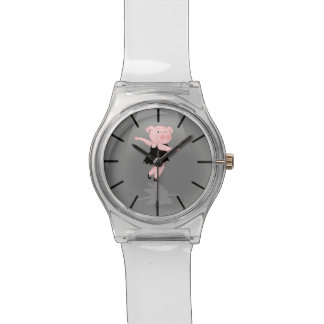 Pig Ballet Dancer Wrist Watch