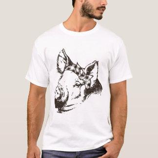 Pig Bandana Southern Funny Farm Animal Women_s Gra T-Shirt