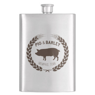 Pig & Barley Flask - Perfect for Bourbon