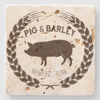 Pig & Barley Natural Stone Coaster