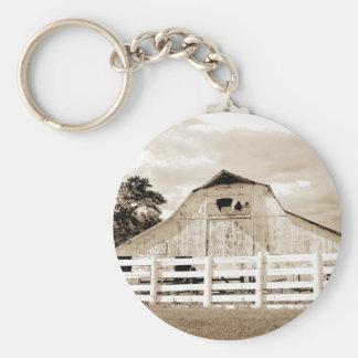 Pig Barn Keychain