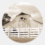Pig Barn Round Sticker