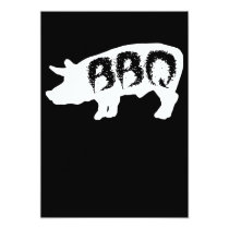 Pig Bbq Love Summer Cookout Grill Cow Steak Party Invitation