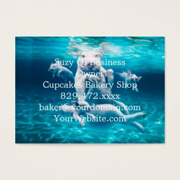 Beach Themed Pig beach - swimming pigs - funny pig business card