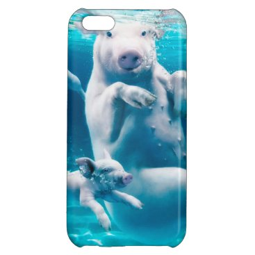 Beach Themed Pig beach - swimming pigs - funny pig case for iPhone 5C
